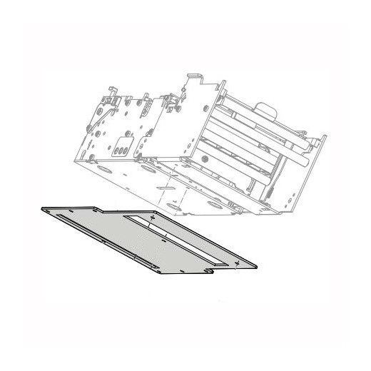 Large media roll accessory mounting plate