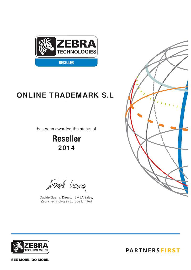 Certificado Zebra Reseller