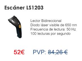 Escáner de mano LS1203